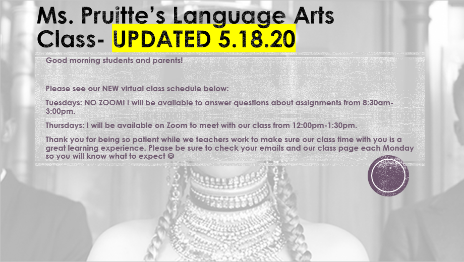 Ms. Pruitte updates- General 5.18.20